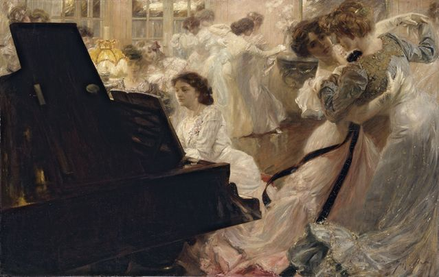 *4. Joseph-Marius Avy - Bal blanc, 1903. Huile sur toile, 139 x 219 cm