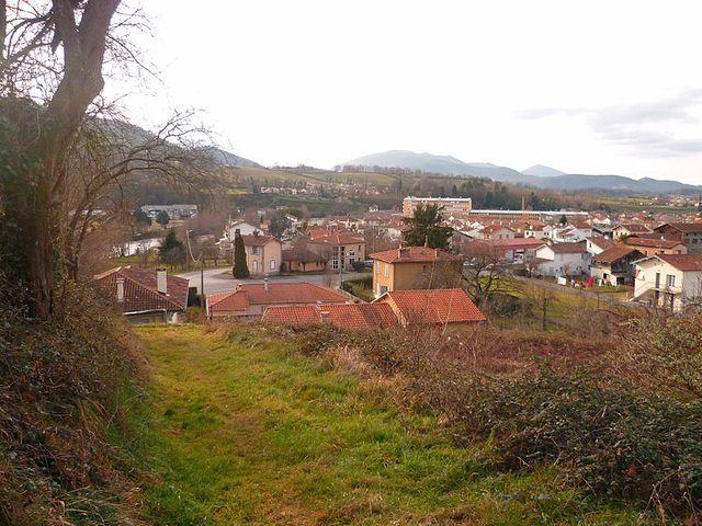 Saint Girons (Ariège) - Vue du sud de la ville depuis Perroute
