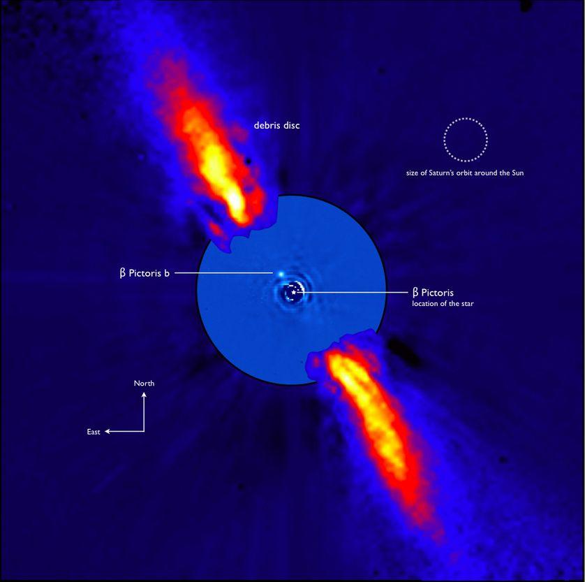 Image de la découverte de la planète beta Pictoris b.