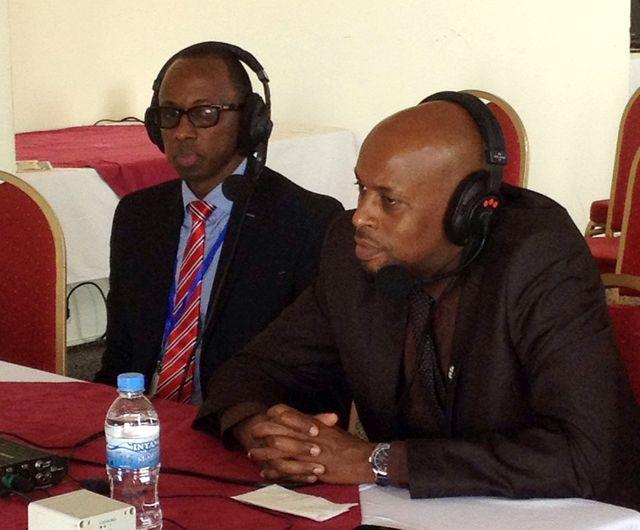 "Diogène Ntarindwa dit ""Atome"" et Jean-Paul Kimonyol"