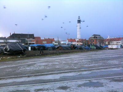 Le camp des Syriens sur le port de Calais