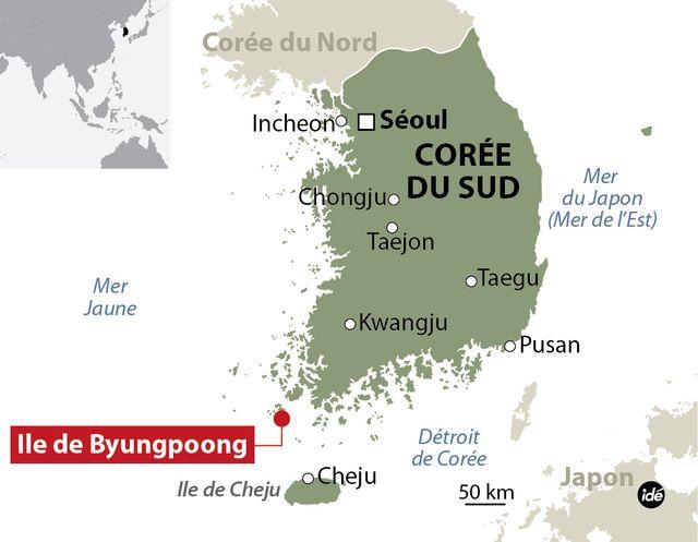 L'accident s'est déroulé près de la côte méridionale de Corée du Sud