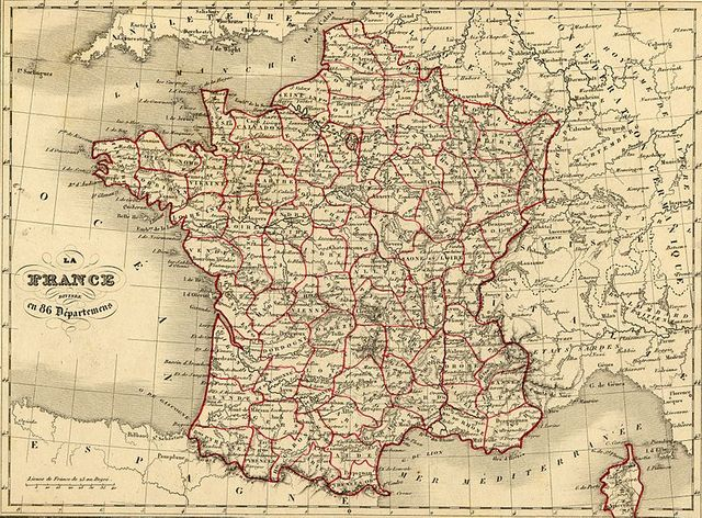 Carte de France de 1843