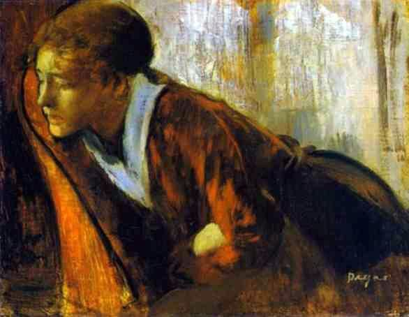 Edgar Degas: Melancholy (c. 1874, Oil on canvas)