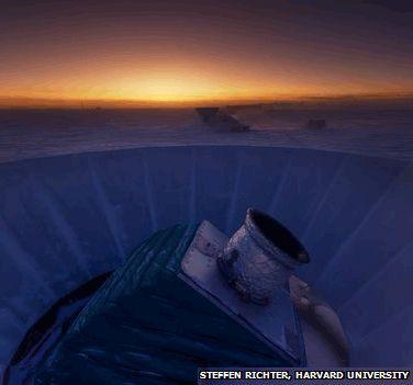 Le télescope BICEP2 installé au pôle Sud