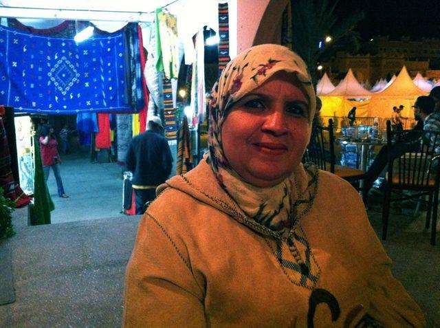 Amina Morad, leader du mouvement de lutte contre le microcrédit à Ouarzazate