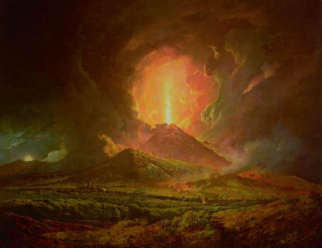 Wright of Derby - Eruption du Vésuve, lundi, le matin, 9 août 1779