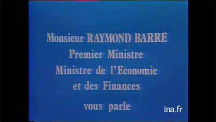 Allocution télévisée de Raymond Barre, le 22 septembre 1976