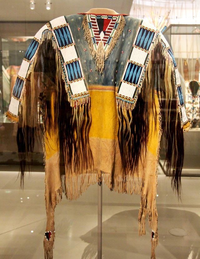 Veste d'homme qui appartenait au chef Red Cloud Oglada Lakota