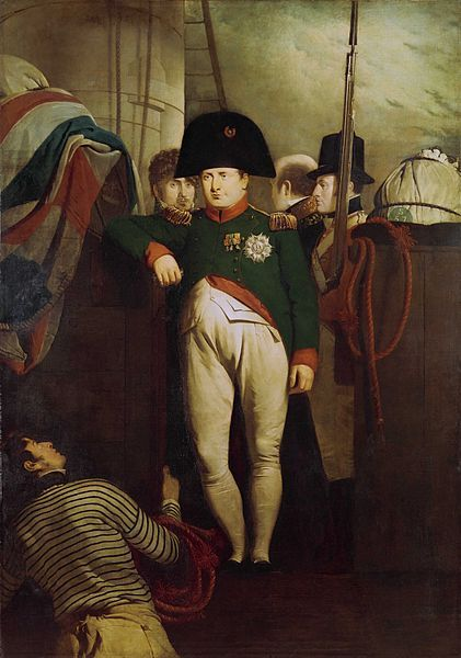 Napoleon Bonaparte on Board the 'Bellerophon' in Plymouth Sound, oil on canvas