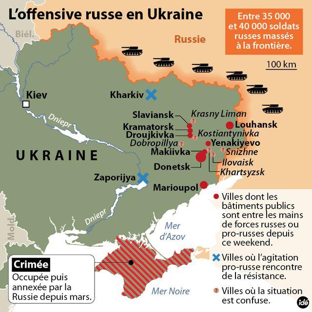 Les séparatistes pro-Russes occupent une dizaine de villes