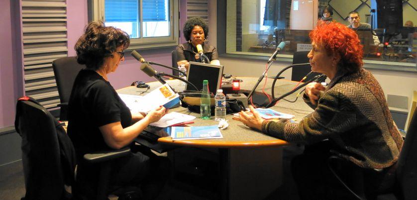 Pendant l'émission : Aline Pailler, Fatoumata Keita & Françoise Dessertine ( de gauche à droite )
