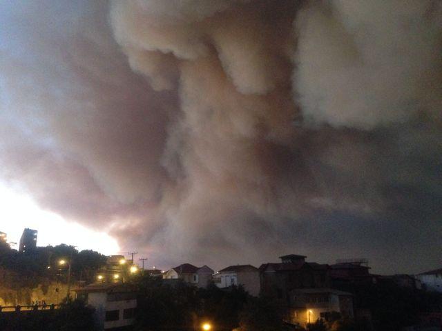 L'incendie de Valparaiso