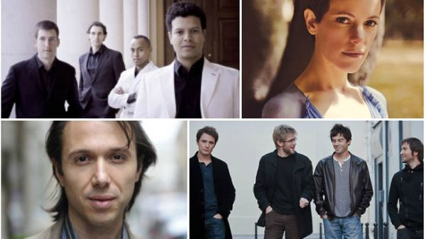 Enregistrement public d'Un mardi idéal avec Maurizio Baglini, Quatuor Ellipsos, Emily Loizeau, Olivier Koundouno et David Enhco Quartet