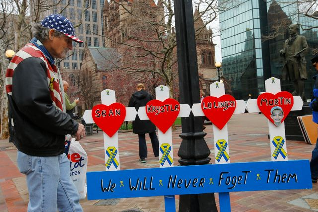 commémoration des attentats de Boston