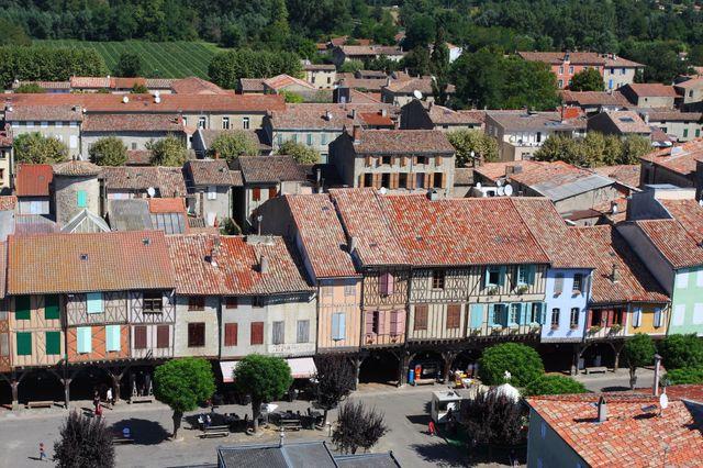 Mirepoix (Ariège) - Maisons à colombages