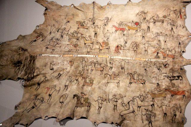Peau peinte Sioux et Mandan