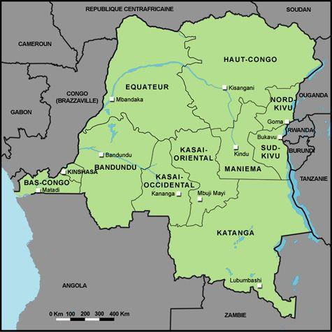 Carte RDC