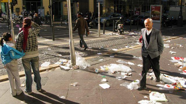 Marseille, grève des éboueurs