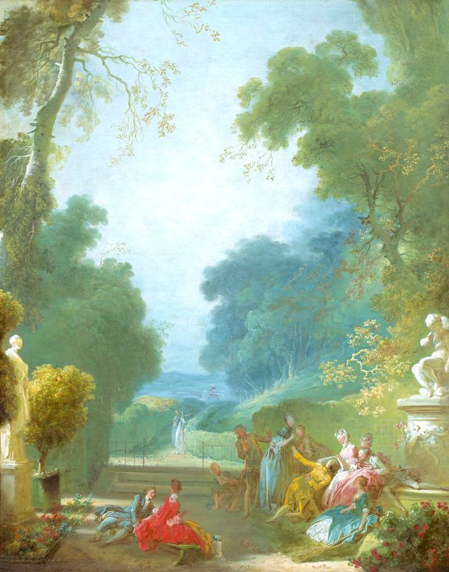 Jean-Honoré Fragonard, 'Le Jeu de la Main chaude', 115,5 x 91,5 cm, huile sur toile, National Gallery of art, Washington