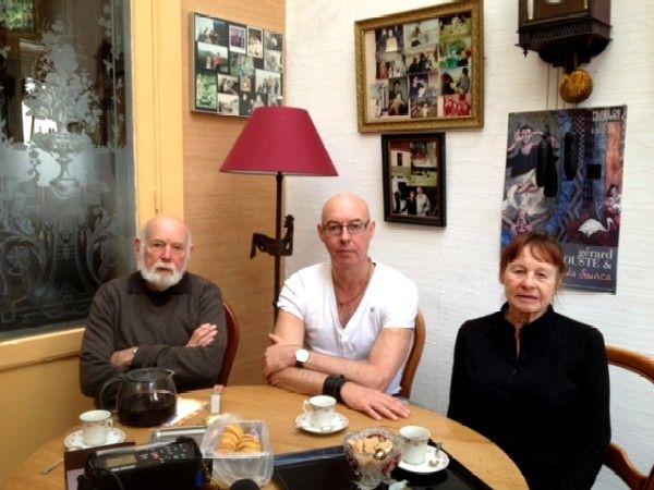 Eric Lacascade avec ses parents