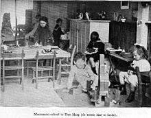 La 1ère Ecole Montessori en 1915 à La Haye