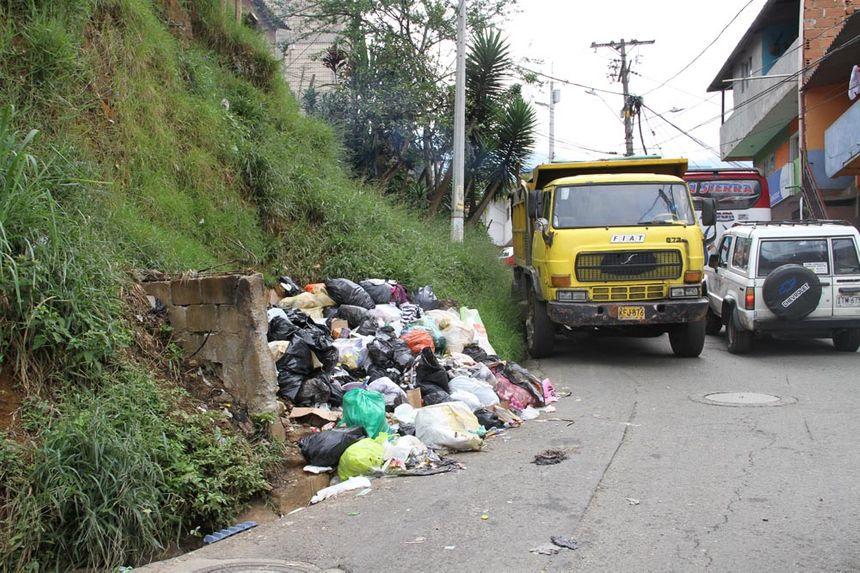 Le quartier de la Sierra dans les hauteurs de Medellin