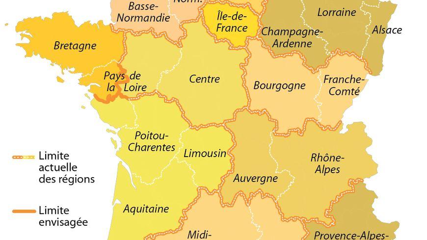 Redécoupage, fusion, régions, projet de Valls