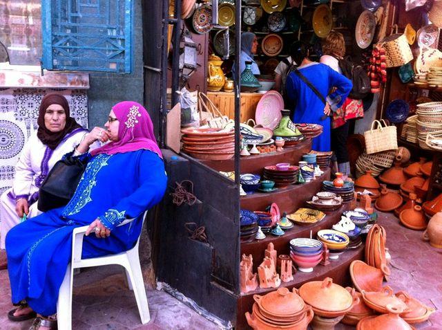 Dans une rue à Ouarzazate