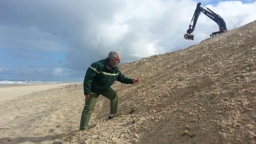 Redonner artificiellement de la pente aux dunes