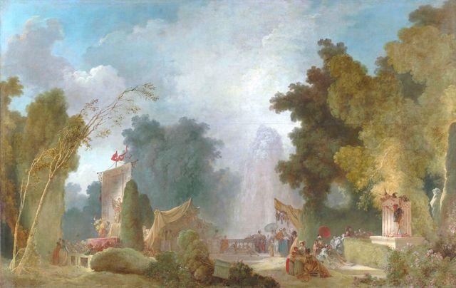 Jean-Honoré Fragonard, 'La Fête à Saint-Cloud', 214 x 334 cm, huile sur toile, Paris, Hôtel de Toulouse, siège de la Banque de F