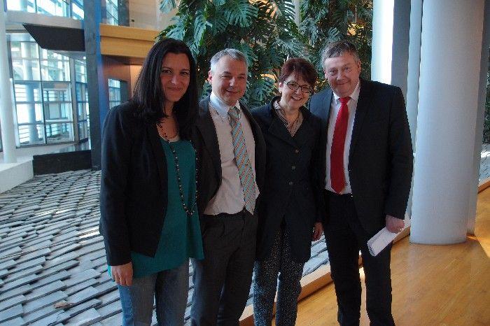 Marisa Mathias, Niccolo Rinaldi, Ingeborg Grässle et Marc Tarabella