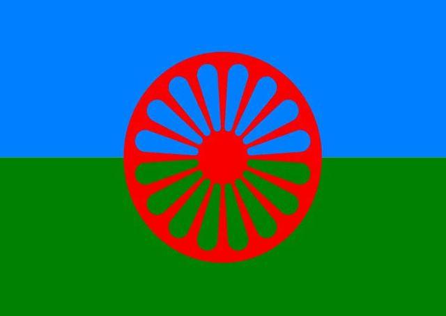 Le drapeau de la communauté Rom