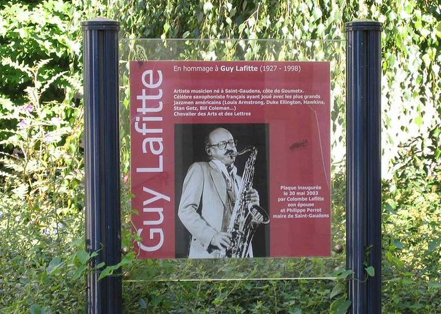 Saint-Gaudens (Haute-Garonne) - Plaque commémorative en hommage à Guy Lafitte
