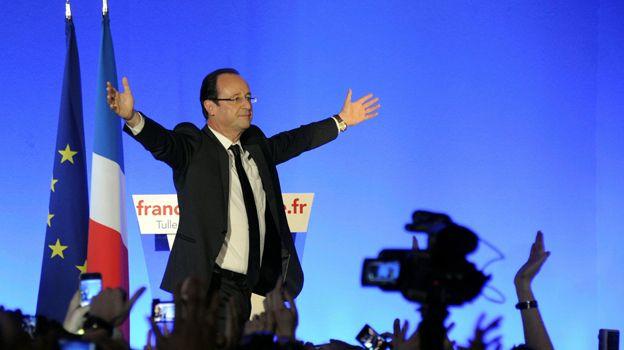 François Hollande à Tulle le 6 mai 2012.