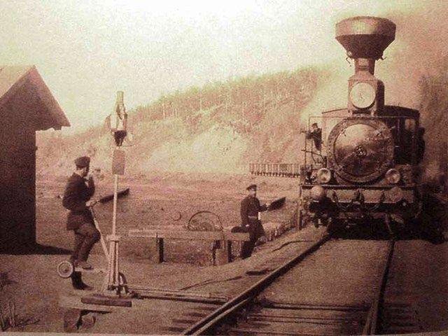 Le Transsibérien à Khilok, dans l'oblast de Tchita, en 1903