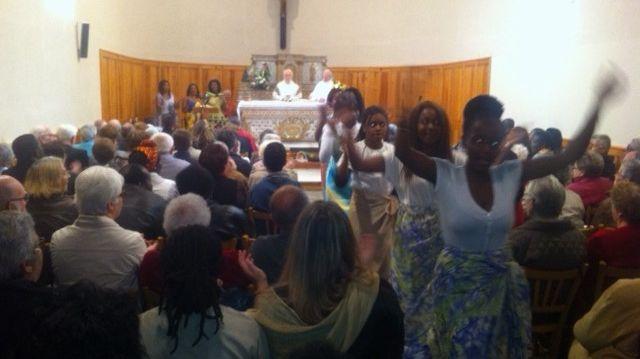 Une centaine de personnes réunies à la messe pour l'Afrique à Chadrac