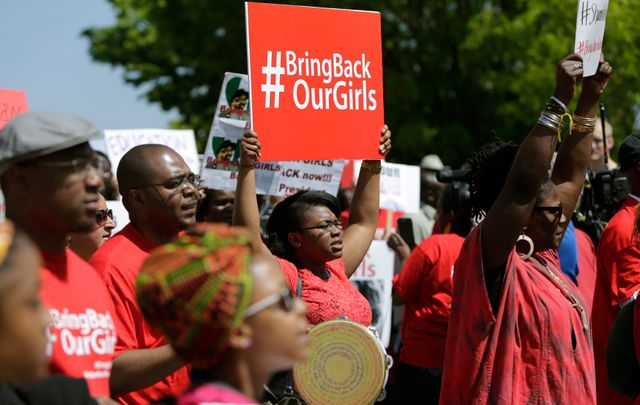 Manifestation à Washington devant l'ambassade du Nigéria