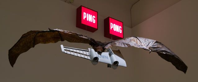 Ping Pong - Huang Yong Ping, Three Wings, 2003