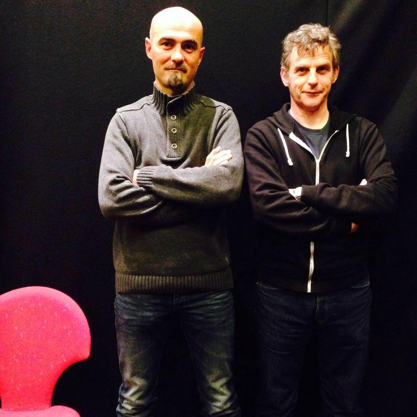 Lucas Belvaux et Marin Ledun dans le RDV