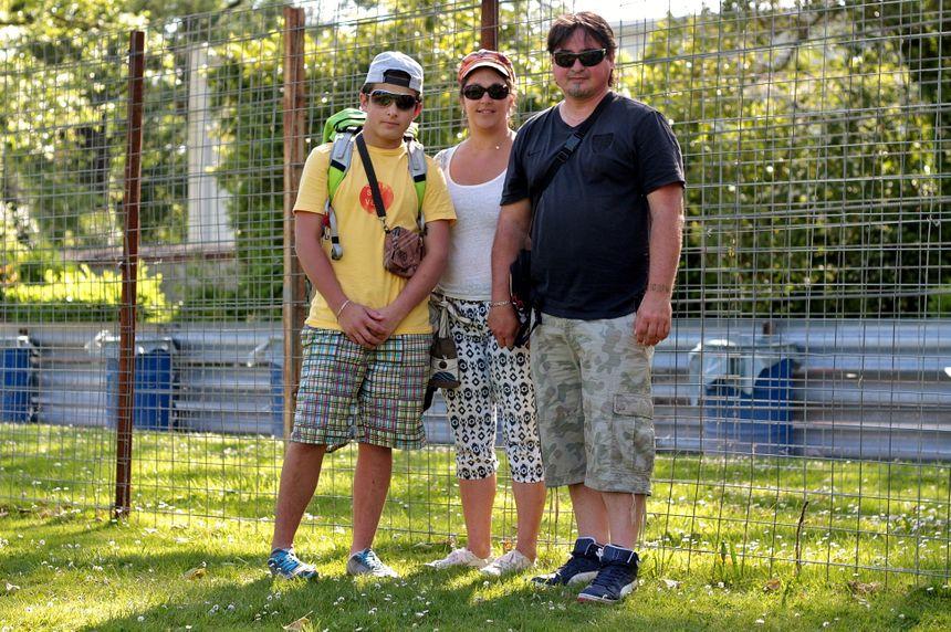 Guy Baloup et sa famille au Grand Prix de Pau