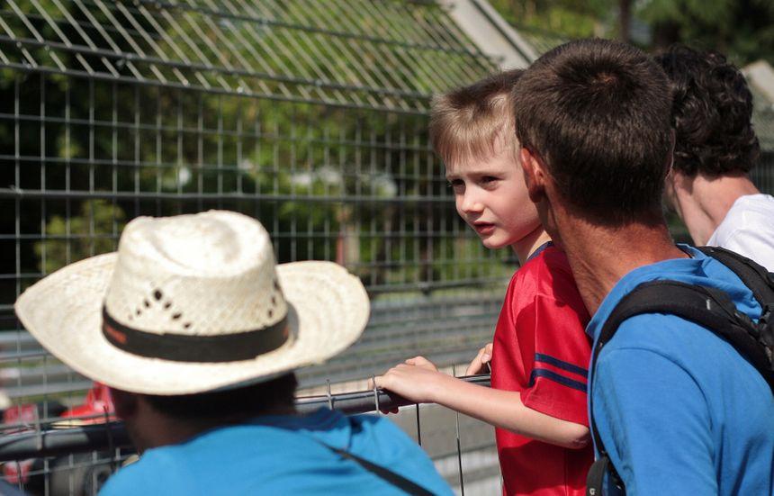Mr Aumont et son fils au Grand Prix de Pau