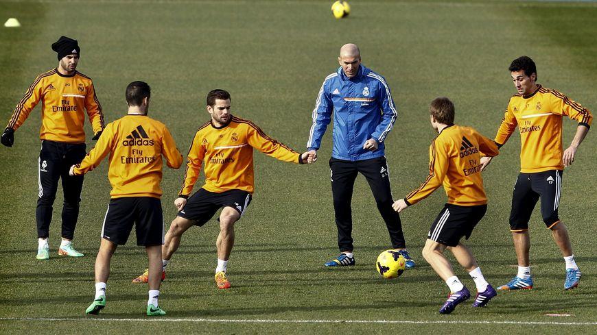 Zinedine Zidane à l'entraînement du Real Madrid
