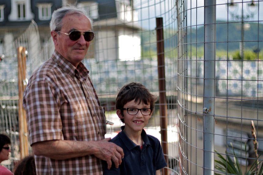 Mr Haure et son petit-fils Paul Leroy au Grand Prix de Pau