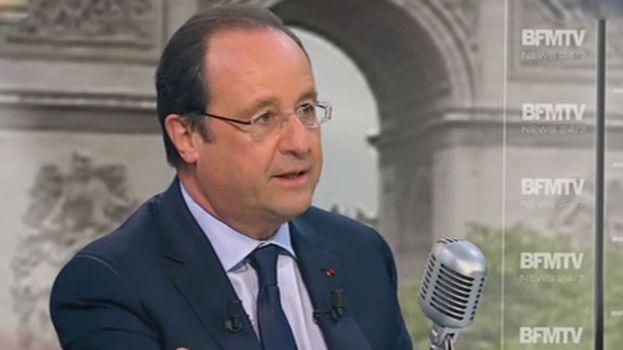 François Hollande, ce mardi 6 mai, sur le plateau de BFM TV