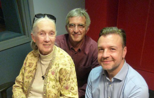 Jane Goodall et Mathieu Vidard