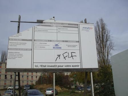 Sarcelles, quartier Pasteur - Signalétique parking Paillards, novembre 2008