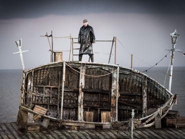 Peter Grimes on Aldeburgh beach d'après le Peter Grimes de Benjamin Britten