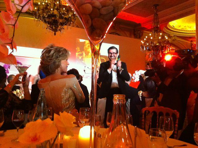 Jane Fonda au dîner de gala de PlaNet Finance