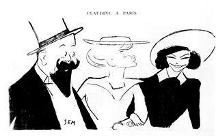 Claudine de Colette par Georges Goursat (Sem)